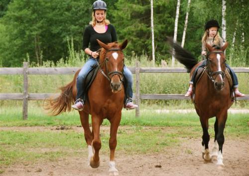 horseback riding in Latvia