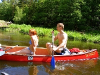 canoeing in Latvia